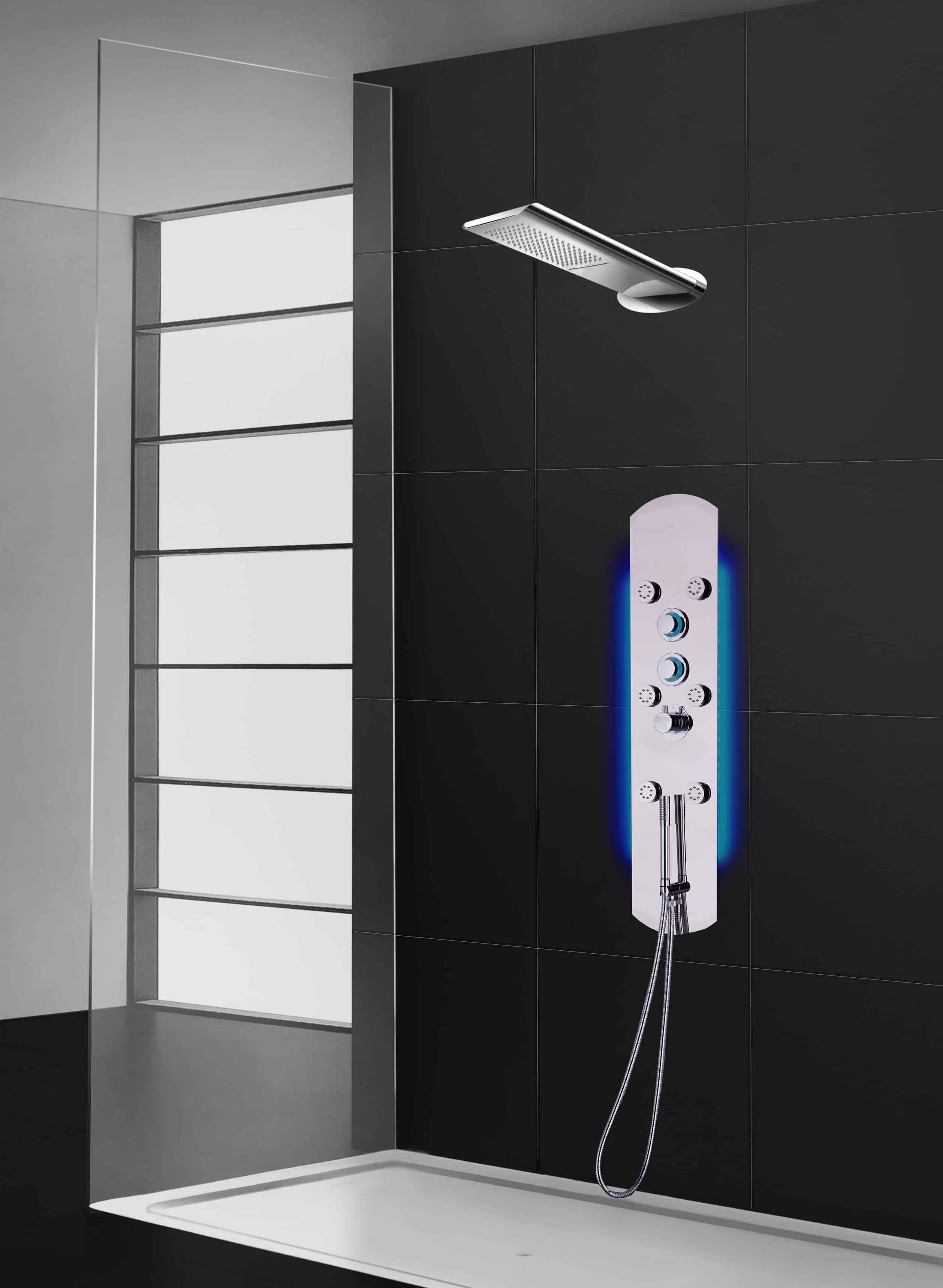 accessoires et colonnes de douche aquamassage pierdeco. Black Bedroom Furniture Sets. Home Design Ideas